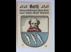 Reklamemarke, Wappen von Garth Königreich-Preußen ♥ (8231)
