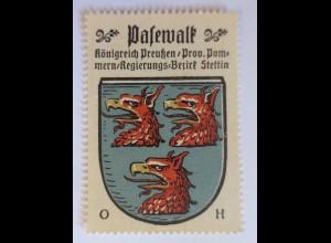 Reklamemarke, Wappen von Pasewalk Königreich-Preußen ♥ (34224)