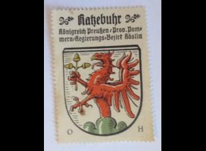 Reklamemarke-Kaffee Hag, Wappen von Ratzebuhr , Königreich Preußen 1910 ♥(42870)