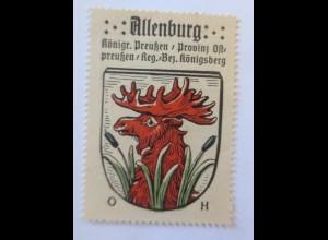 Reklamemarke-Kaffee Hag, Wappen von Allenburg, Königreich Preußen 1910♥ (47989)