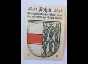 Reklamemarke-Kaffee Hag, Wappen von Polzin, Königreich Preußen 1910 ♥ (33982)