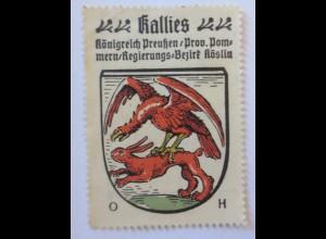 Reklamemarke-Kaffee Hag, Wappen von Kallies, Königreich Preußen 1910 ♥ (28380)