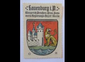 Reklamemarke-Kaffee Hag, Wappen von Körlin, Königreich Preußen 1910 ♥ (65180)
