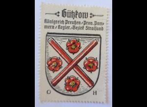 Reklamemarke-Kaffee Hag, Wappen von Gützkow, Königreich Preußen 1910 ♥ (65160)