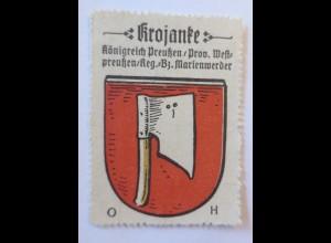 Reklamemarke-Kaffee Hag, Wappen von Krojanke, Königreich Preußen 1910 ♥ (65164)