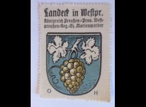 Reklamemarke-Kaffee Hag, Wappen von Landeck , Königreich Preußen 1910 ♥ (30646)