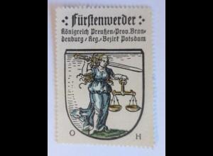 Reklamemarke-Kaffee Hag,Wappen von Fürstenwerder,Königreich Preußen 1910♥(65630)