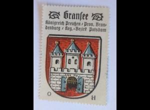 Reklamemarke-Kaffee Hag,Wappen von Gransee, Königreich Preußen 1910♥(65170)