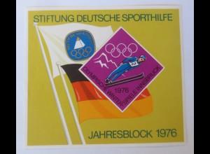 Jahresblock Olympische Winterspiele Innsbruck 1976 ♥ (71809)