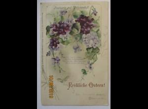 Blumen, Postkarte mit Veilchen-Duft, Fröhliche Ostern ca. 1900 (29849)