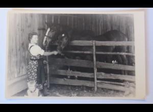 Fotokarte, Frauen, Kinder, Mode, Pferde, 1940 ♥ (19719)