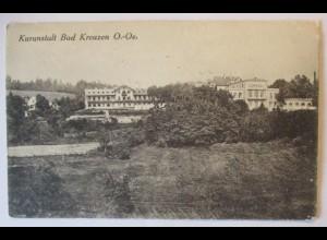 Ober Österreich, Bad Kreuzen, Kuranstalt 1923 (40782)