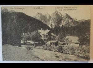 Gosau, Gasthaus Gosauschmied, Hüttenstempel 1921 (61008)