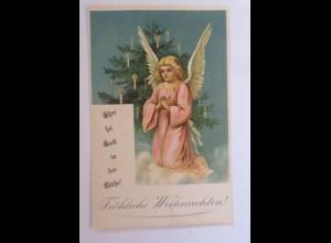 Weihnachten, Engel, Weihnachtsbaum, Ehre sei Gott in der Höhe, 1908 ♥ (46025)