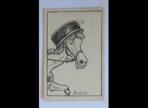 """Personifiziert, Pferd, Hut"" 1911, Tressler ♥"