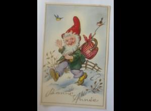 Neujahr, Zwerge, Wandern,Vogel, 1930 ♥ (71207)