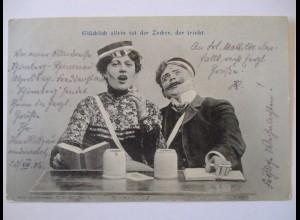 Studentika, Glücklich allein ist der Zecher der trinkt, 1905