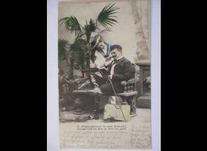 Studentika, Mädchenschelmerei, 1903 aus Feuerbach