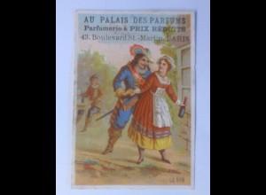 Sammelbild, Werbung, Frauen, Männer, Mode, Parfum,1900, aus Frankreich ♥