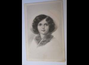 """Frauen, Mode, Blumen, Pelz, Mütze"" 1910 ♥"