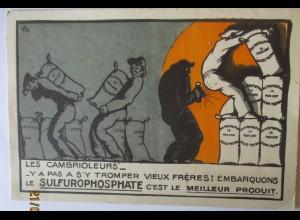 Werbung Reklame Taschenlampe Sulfurophosphate ca. 1920 (44605)