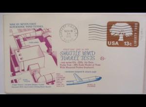 Raumfahrt USA NASA Space Shuttle Wind Tunnel Test Moffett Field 1976 (50553)