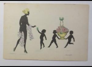 Scherenschnitt, Kinder, Frauen, Blumen 1908 ♥ (25499)