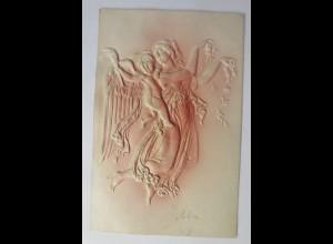 Engel,Blumen, Fackel, 1904, Relief ♥ (14605)