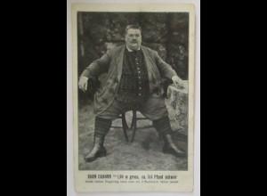 Übergewichtiger Egon Canonn, 2 Mark Großer Siegelring, ca. 1910 (15480)