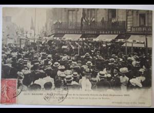 Frankreich St. Nazaire, Fetes de Inauguration Entree 1907 (21308)