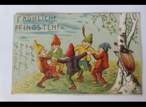 Pfingsten, Zwerge, Reigen, Maikäfer, 1907 ♥ (46458)