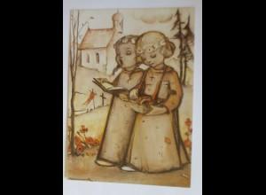 Hummel, Weihnachten, Zwei singende Kinder, Nr. 213, 1950 ♥ (69457)