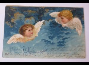 Weihnachten, Engel, Himmel, Wolken, 1901, ♥ (52366)