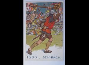 Sempach, Der Schweizer Soldat im Laufe der Jahrhunderte 1918 ♥ (5003)