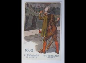 L´Escalade de Geneve,Der Schweizer Soldat im Laufe der Jahrhunderte 1918♥(13413)