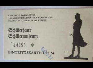 Schiller Schillermuseum Weimar, Eintrittskarte (54854)
