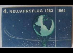 Luftfahrt Ballonpost postfrische Vignette Neujahrsfahrt 1963 1964 (46516)