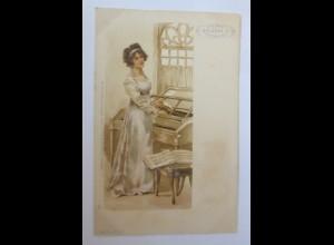 Reklame, Chicoree Arlatte, Frauen, Mode, Klavier, 1900 ♥ (70646)
