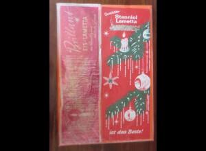 Reklame, Lametta, Stanniol Lametta und Brillant Eis Lametta 1950 ♥ (50)