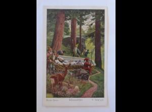 Märchen, Brüder Grimm, Schneewittchen, 1925 , O. Kubel ♥ (69139)