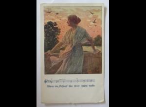 Deutscher Schulverein Nr. 1379, Liederkarte E. Kutzer 1918 ♥ (10331)