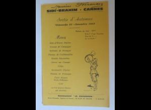 Menükarte, Menu, Restaurant le Chaudron Frankreich 1969 ♥ (X1)