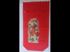 Weihnachten, Nikolaus, Tütchen für Süßes, 29,5 cm x 16 cm Jahr 1930 ♥