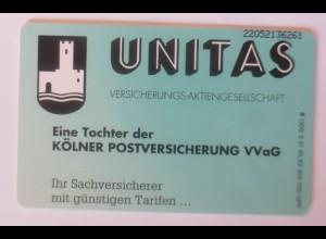 Telefonkarten Reklame Unitas Versicherung-Aktiengesellschaft ♥ (4597)