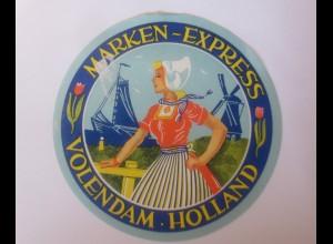 Reklame Aufkleber Marken Express Volendam Holland 1950 ♥ (61576)