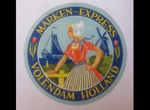 Reklame Aufkleber Marken Express Volendam Holland 1950... ♥ (37098)