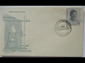 Chemie Prafula Chandra Rey FDC Indien 1961 (65069)