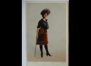 Wild West Show, Cowgirl mit Peitsche, ca. 1910 (21552)