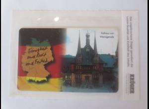 Telefonkarten Krüger Dr. Helmut Kohl Rathaus Wernigerode 1994 ♥ (37913)