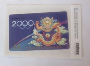 Telefonkarten Krüger China Drachen Jahr 2000 Olympia ♥ (38957)